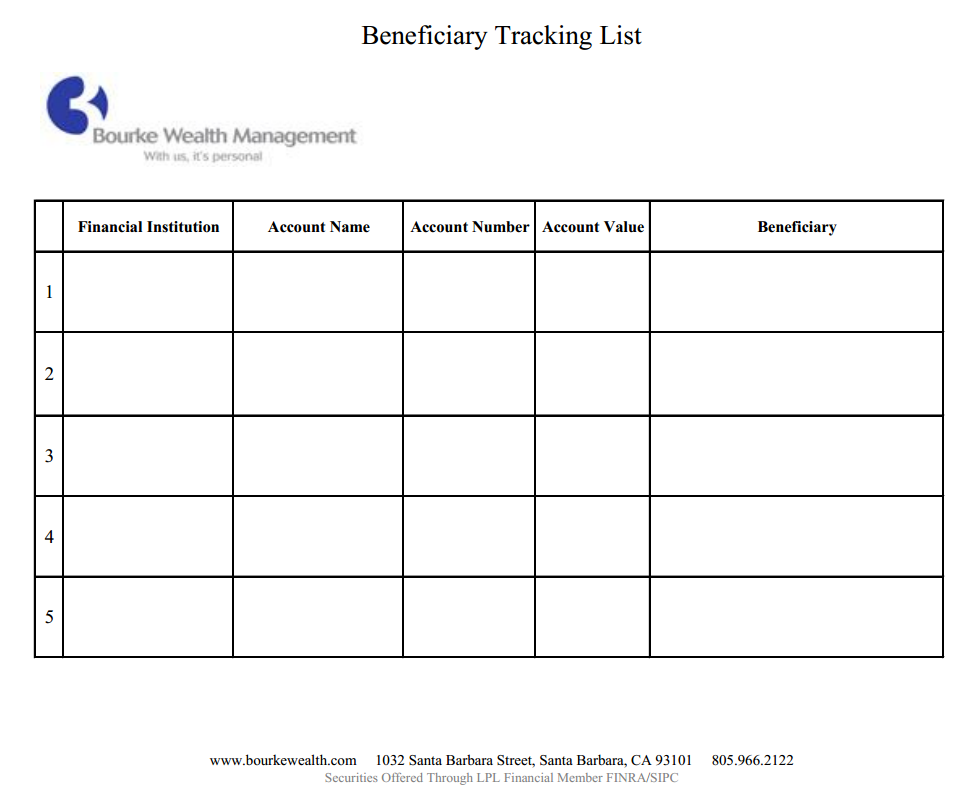 Beneficiary Tracking List